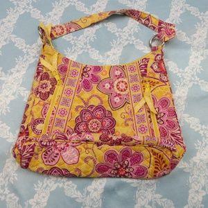 Vera Bradley Yellow Floral Purse Shoulder Bag
